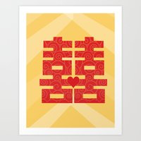 double happiness Art Print