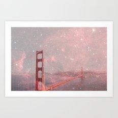 Stardust Covering San Francisco Art Print