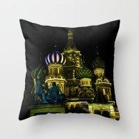 Saint Basil's Cathedral,… Throw Pillow