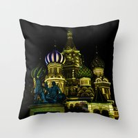 Saint Basil's Cathedral,… Throw Pillow
