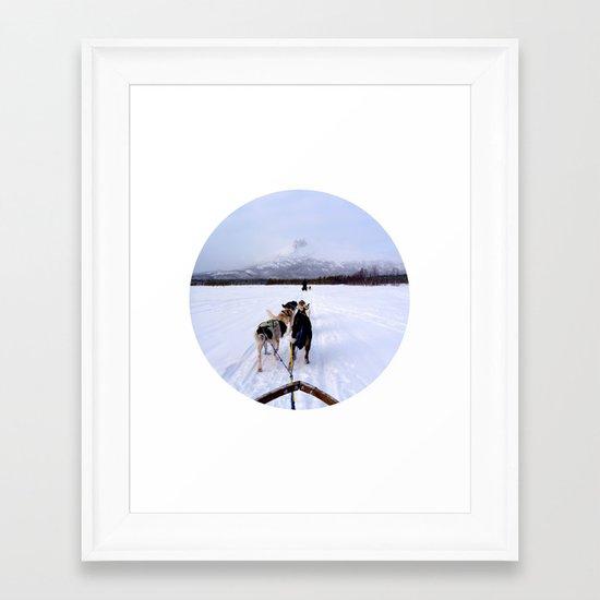 Telescope 7 husky Framed Art Print