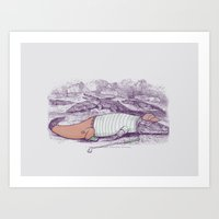 Golf Buddy Roger Art Print