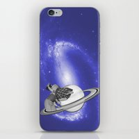 FLY ME TO THE SATURN iPhone & iPod Skin
