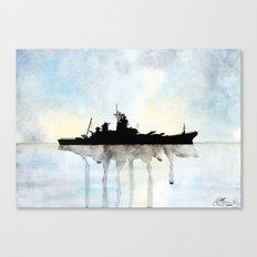 USS Missouri Watercolour Canvas Print