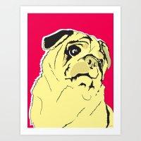 Shmoo The Pug Art Print