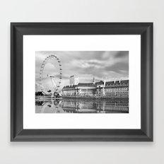 London Eye and River Thames Framed Art Print
