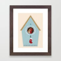 Blue Bird House Framed Art Print