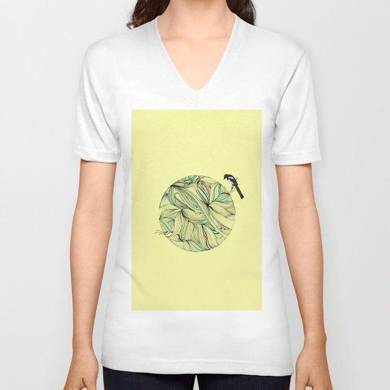 Magpie V-neck T-shirt