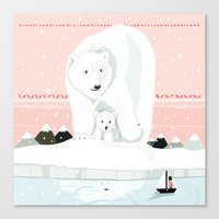 The White Bears And The … Canvas Print