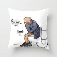 Bugger... Throw Pillow