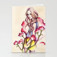 Birth Flower IV - Sweet Pea Stationery Cards