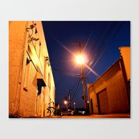 Canvas Print featuring South Tacoma alley by Vorona Photography