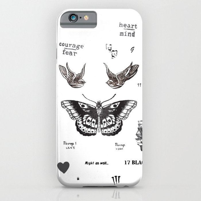 Tattoo la harry iphone ipod case by kate co society6 for Tattoo artist iphone cases