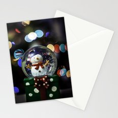 snow sphere Stationery Cards