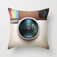 Instagram Throw Pillow