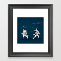 Fencing at a higher Level Framed Art Print