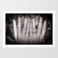 Blue Eyes Art Print