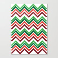 Xmas Chevron Canvas Print