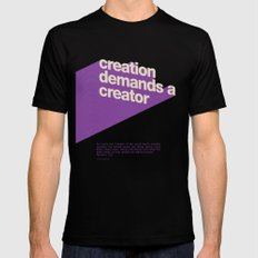 Creation Demands A Creator Mens Fitted Tee SMALL Black