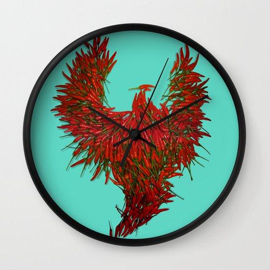 Hot Wings! Wall Clock