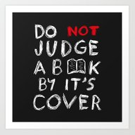 Do Not Judge A Book By I… Art Print