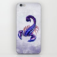Purple Scorpion iPhone & iPod Skin