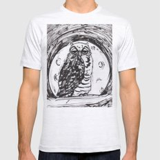 Night Owl v.1 Mens Fitted Tee Ash Grey SMALL