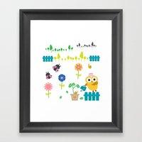 Gardening Owl Framed Art Print