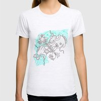 Oh animals Womens Fitted Tee Ash Grey SMALL