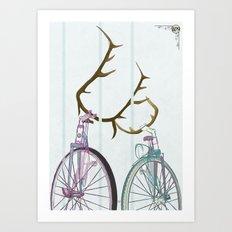 Bicycles in Love Art Print