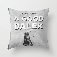 Doctor Who: A Good Dalek Throw Pillow