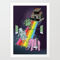 POLAROID SX70 CAMERA CIR… Art Print