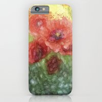 iPhone Cases featuring Poppy painting by UtArt