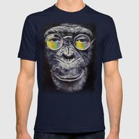 Beatnik Mens Fitted Tee Navy SMALL