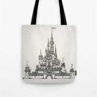 Castle of Dreams s/w Tote Bag