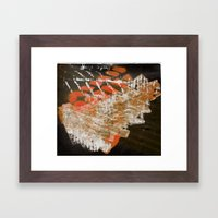 Materials Collage Framed Art Print