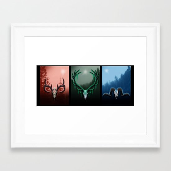 W Horns Framed Art Print