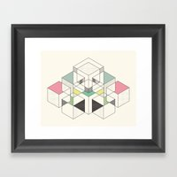GEOMETRIC SPACE Framed Art Print