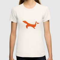 Origami Fox Womens Fitted Tee Natural SMALL