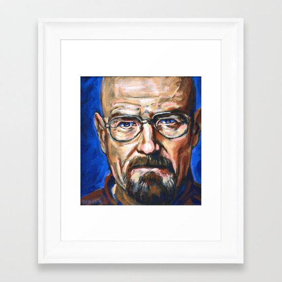 Walter White Breaking Bad Framed Art Print