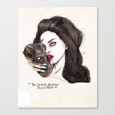 "Lana ""The saddest,baddest diva in Rock"" Canvas Print"