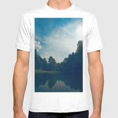 Majestueux Mens Fitted Tee SMALL White