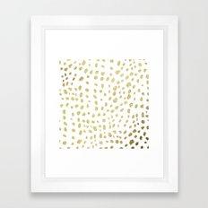 Modern White Gold Faux … Framed Art Print