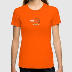 Drunk Womens Fitted Tee Orange SMALL