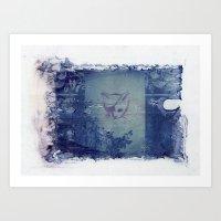 Here Kitty Kitty Polaroi… Art Print