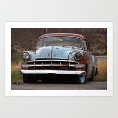 Rusty Car Art Print