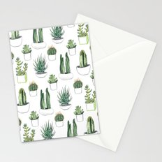 watercolour cacti and succulent Stationery Cards