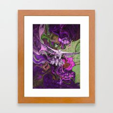 Freedom purple Framed Art Print