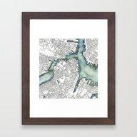 Boston, MA Framed Art Print