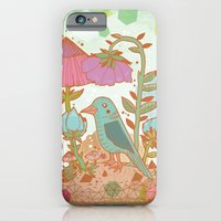 iPhone & iPod Case featuring The Blue Bird by Jo Cheung Illustration
